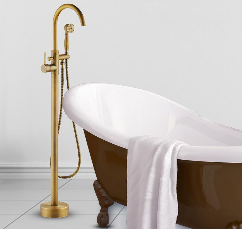 Modern-Free-standing-Bathtub-Faucet-Tub-Filler-Fashion-Antique-Brass-Floor-Mount-with-Hand-shower-Bathtub