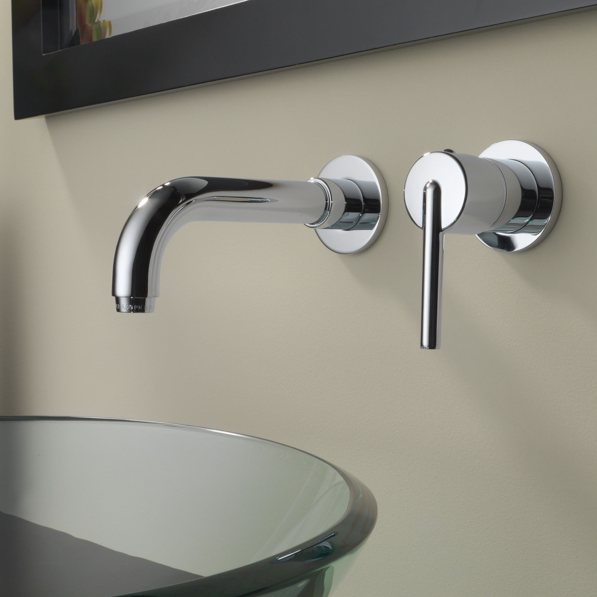 Trinsic+Single+Handle+Wall+Mount+Bathroom+Faucet